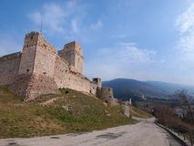 Assisi-Schloss, Italien Stockfoto