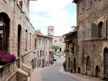 Assisi Straße Stockbild