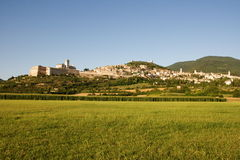 Assisi in summer Royalty Free Stock Photos