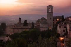 Assisi at sunset. Royalty Free Stock Photos