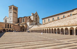 Assisi at sunset. Italy Royalty Free Stock Photos