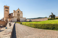 Assisi at sunset. Italy Stock Photos