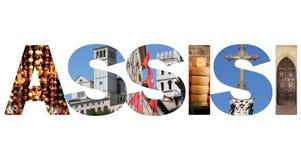 Assisi text Stock Image