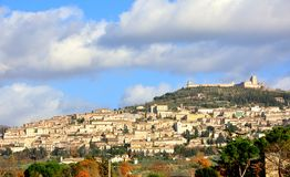 Assisi town panorama, Italy Stock Photography