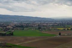 Assisi in Umbrië, Italië stock fotografie