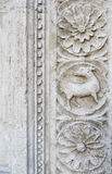Assisi, Umbria, Italy- Stone carved decorations. Royalty Free Stock Photos
