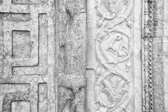 Assisi, Umbria, Italy- Stone carved decorations. Royalty Free Stock Photo