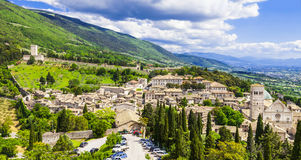 Assisi, Umbria, Italy. View of medieval Assisi, Umbria, Italy royalty free stock images