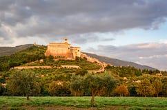 Assisi (Umbria)  at sunset Stock Photos