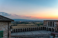 Assisi Umbria view at sunset Royalty Free Stock Photos