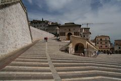 Assisi view. Captured in Assisi - Umbria near Cathedral Stock Photo
