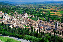 Assisi view. View of medieval assisi town in italy royalty free stock photography