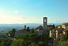 Assisi. A view in the middle of Assisi stock photo