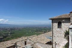Assisi - visión panorámica Imágenes de archivo libres de regalías
