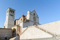 ASSISI WŁOCHY, STYCZEŃ, - 23, 2010: Bazylika San Francesco d'As Zdjęcie Royalty Free