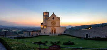 Assisi & x28;Umbria& x29; Basilica di San Francesco Royalty Free Stock Photo