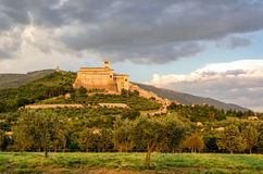 Assisi & x28;Umbria& x29; Basilica di San Francesco Stock Images