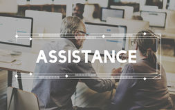 Assist Assistance Support Help Service Concept Stock Image