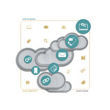 Assist cloud Royalty Free Stock Photography