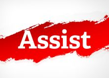 Assist Red Brush Abstract Background Illustration royalty free illustration