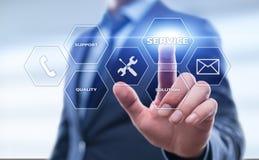 Assista il concetto di Internet della tecnologia di affari della soluzione del supporto tecnico Fotografie Stock