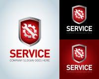 Assista il modello di logo, assista l'icona Assista la cresta, logo dello schermo Assista l'icona dell'applicazione Formato di ve illustrazione vettoriale