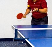 assista il ping-pong Immagini Stock