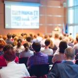 Assistance à la salle de conférences Image libre de droits