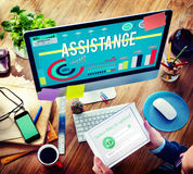 Assistance Assist Cooperation Partnership Support Concept Royalty Free Stock Photography