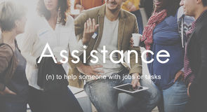 Assistance Coaching Collaboration Support Help Concept Royalty Free Stock Images