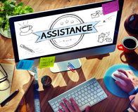 Assistance Collaboration Cooperation Help Support Concept Royalty Free Stock Photography