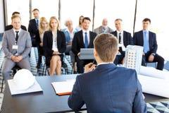 Assistance d'affaires à la formation Image libre de droits