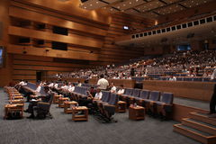 Assistance de conférence internationale Images stock