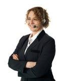 Assistance exécutive femelle de support à la clientèle Image libre de droits