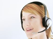 Assistance on hotline Royalty Free Stock Images