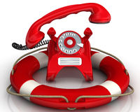 Assistance by phone Royalty Free Stock Photos