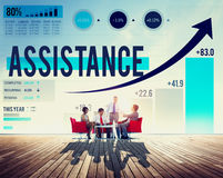 Assistance Support Partnership Cooperation Help Concept Stock Photo