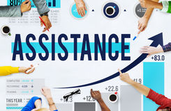 Assistance Support Partnership Cooperation Help Concept Royalty Free Stock Image