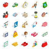 Assistance to business icons set, isometric style. Assistance to business icons set. Isometric set of 25 assistance to business vector icons for web isolated on Royalty Free Stock Images