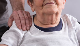 Assistance to elderly Stock Photo