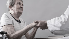 Assistance to elderly royalty free stock photos