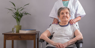 Assistance to elderly Royalty Free Stock Image