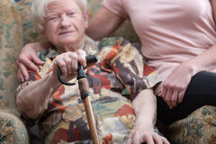 Assistance to the elderly Stock Image