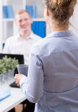 Assistant and businessman Stock Photo