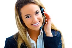 Assistant on call center Royalty Free Stock Image