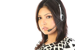 Assistant on call center Stock Images