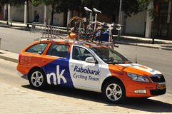 Assistant coach of the cycling team Rabobank Royalty Free Stock Photo