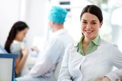 Assistant of dentist Royalty Free Stock Photography
