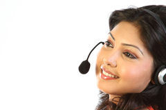 assistant  girl on call center Royalty Free Stock Photos