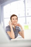 Assistant girl on phone call Stock Photography